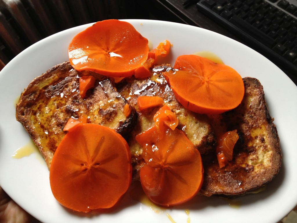 Persimmon french toast