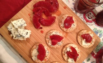 Quince and Blue Cheese Appetizer