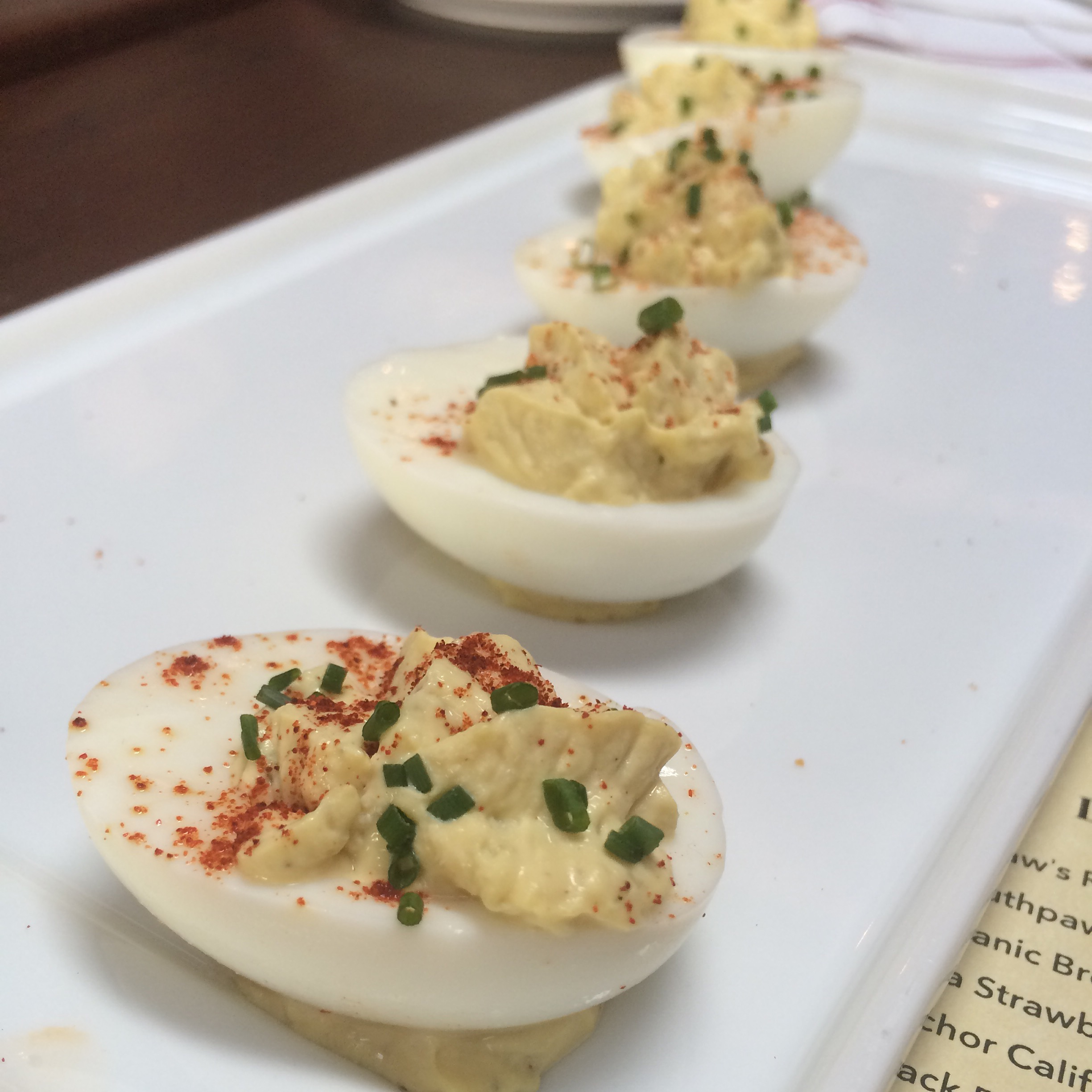 Deviled Eggs at Southpaw BBQ