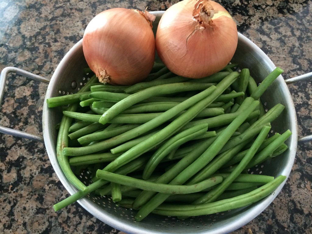 Green Beans and onion