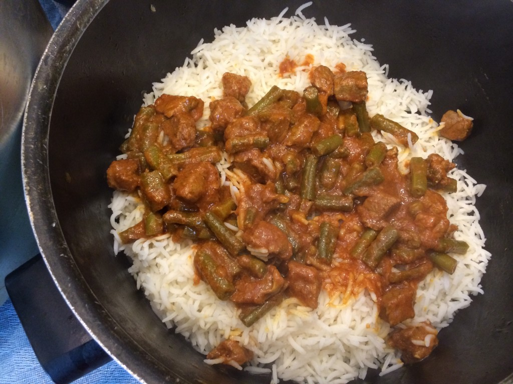 Layer rice with lubia Polo