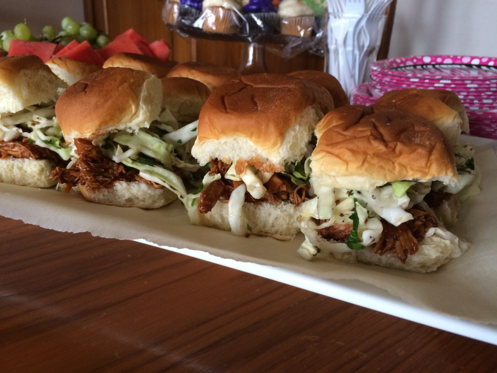 bbq chicken sliders z